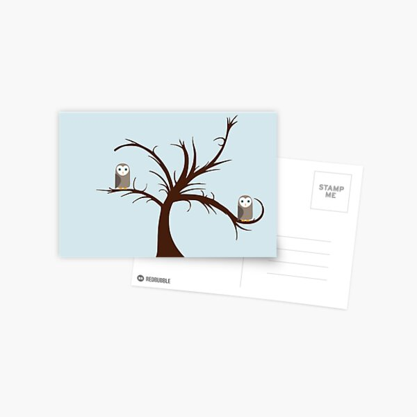 Owls in the Tree Postcard
