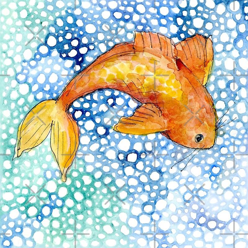 Charming pond koi canvas prints by meamelia redbubble for Koi prints canvas