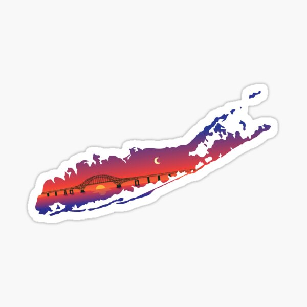 Long Island Sunset  Sticker