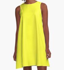 Daffodil Yellow A-Line Dress