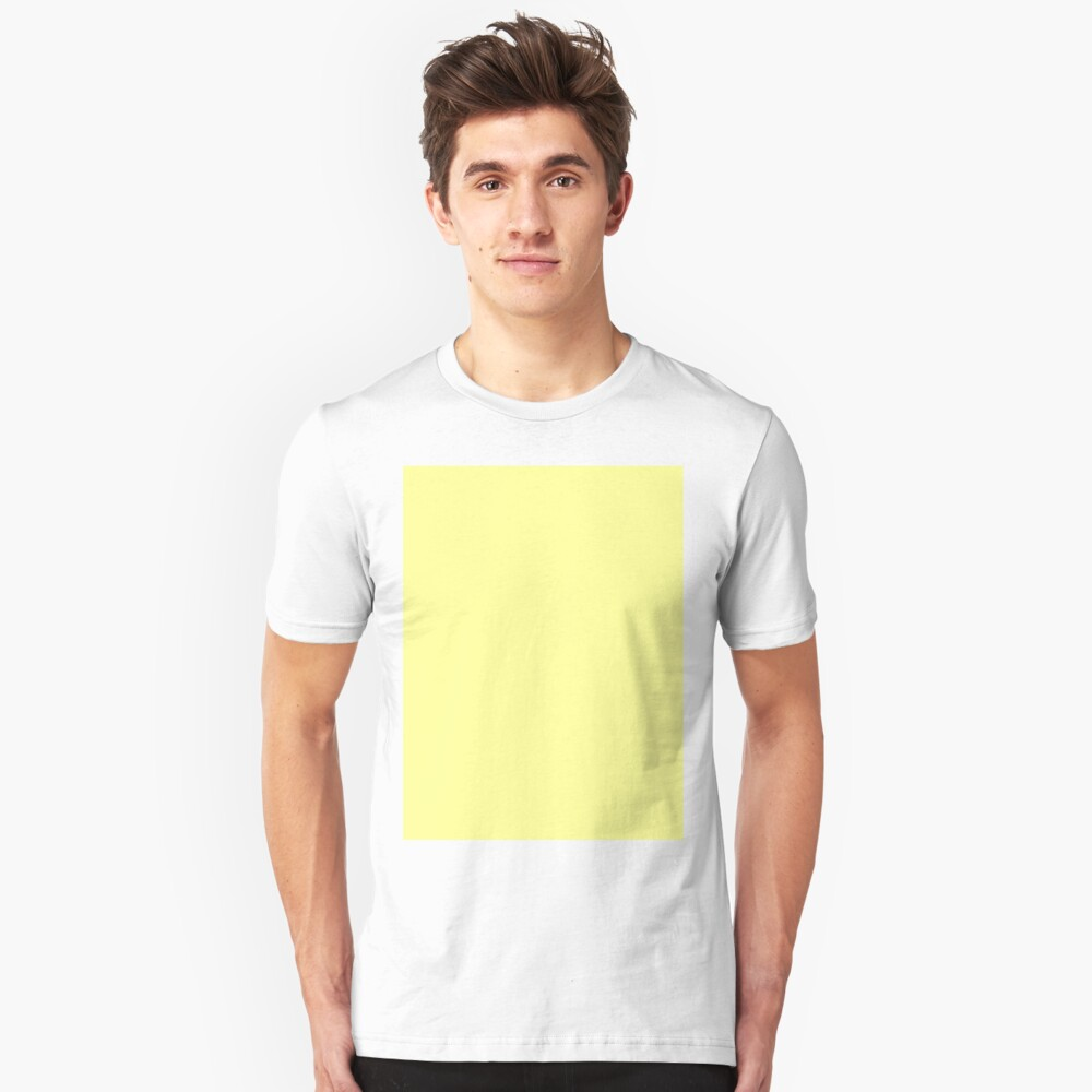 Pastel Yellow Unisex T Shirt By Solidcolors Redbubble