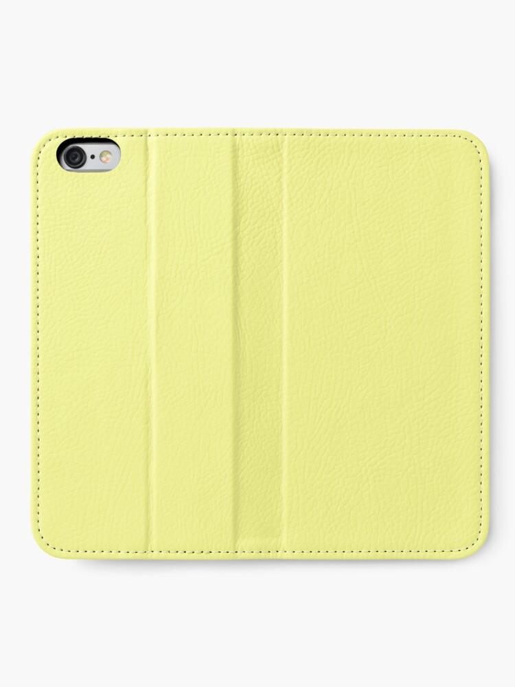 Alternative Ansicht von Pastellgelb iPhone Flip-Case