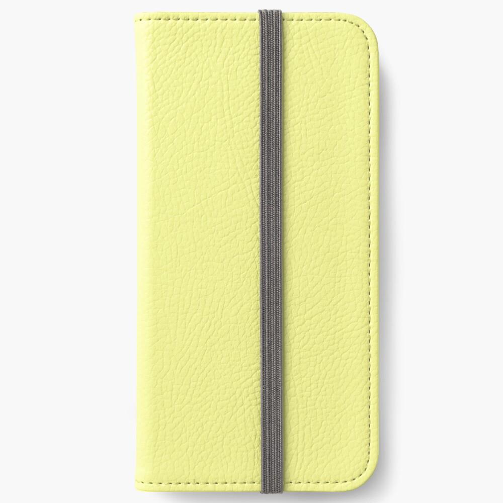 Pastellgelb iPhone Flip-Case