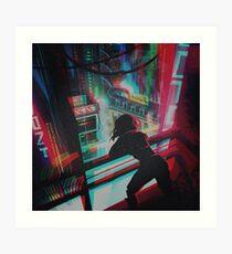 Lámina artística GITS cyberpunk