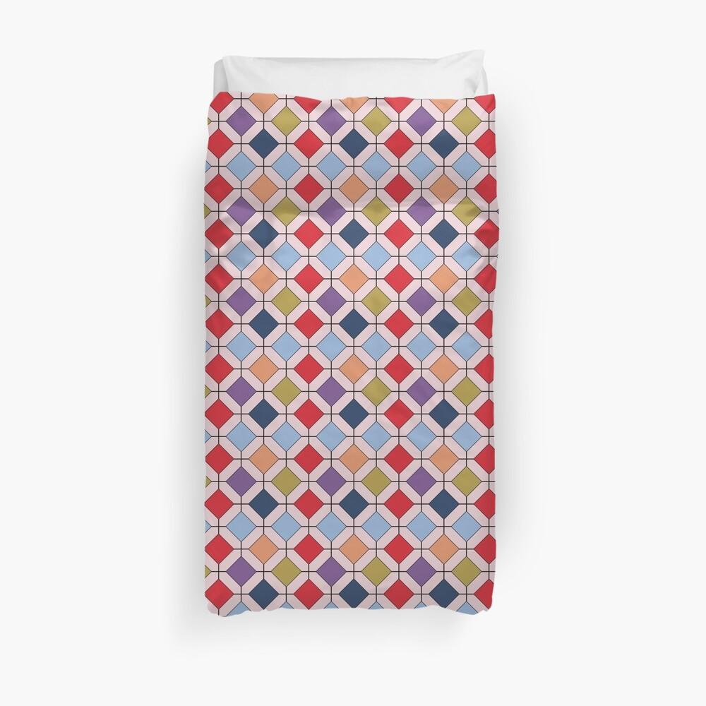 Trendy Autumn Fall Fashion Color Palette Geometric Pattern Duvet Cover