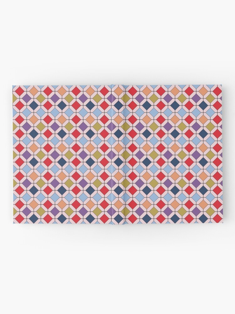 Alternate view of  Trendy Autumn Fall Fashion Color Palette Geometric Pattern Hardcover Journal