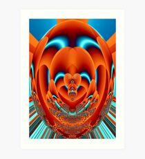 Fractal Faberge Egg Orange Art Print