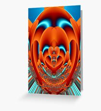 Fractal Faberge Egg Orange Greeting Card
