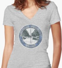 Greendale Community College (Community) Women's Fitted V-Neck T-Shirt