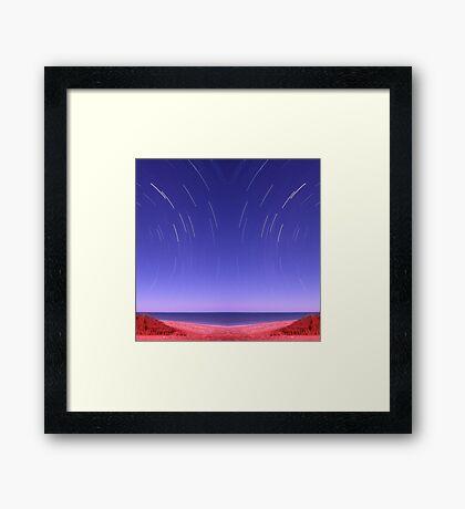 Star trails on Kimberley coast abstract Framed Print
