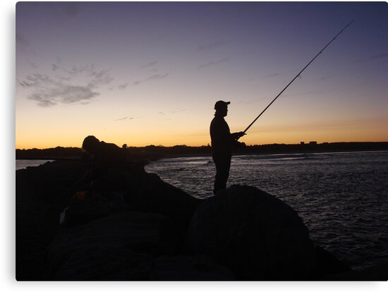 Me-Fishing Silhouette by Martice