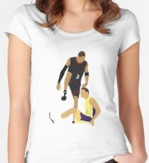 0d35fa74b Allen Iverson Steps Over Tyronn Lue Women s Fitted Scoop T-Shirt
