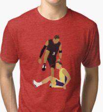 Allen Iverson Steps Over Tyronn Lue  Tri-blend T-Shirt