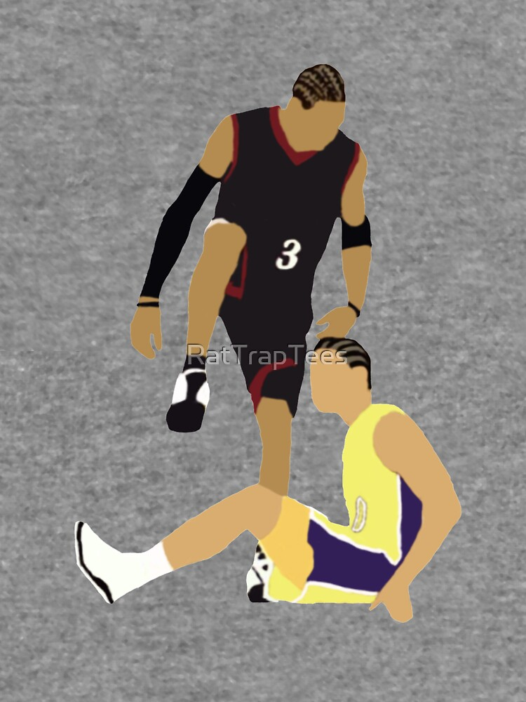 Allen Iverson Steps Over Tyronn Lue  by RatTrapTees