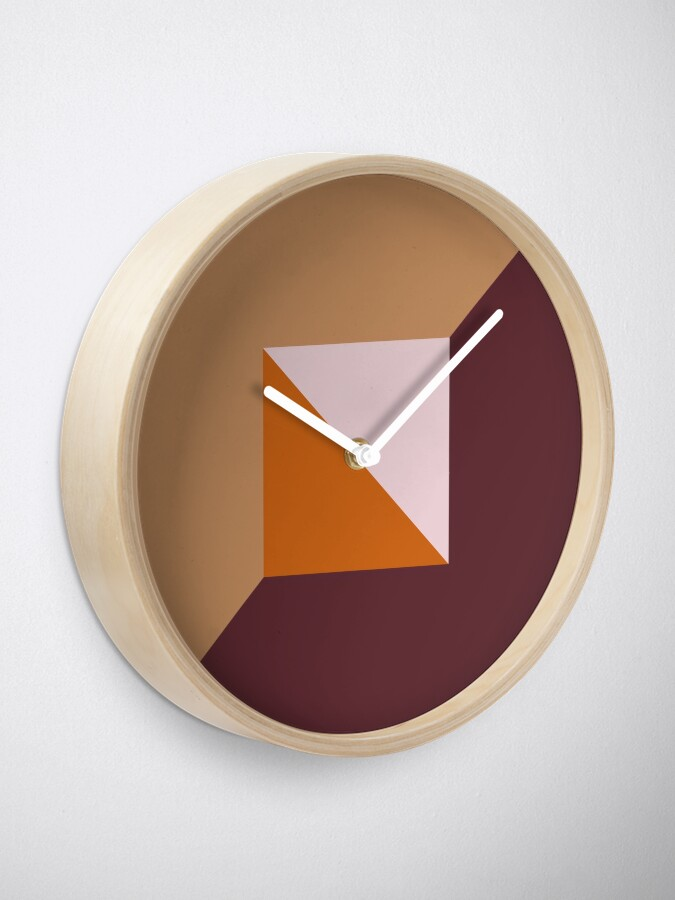 Alternate view of Fashionable Fall Autumn Trending Muted Color Palette Clock