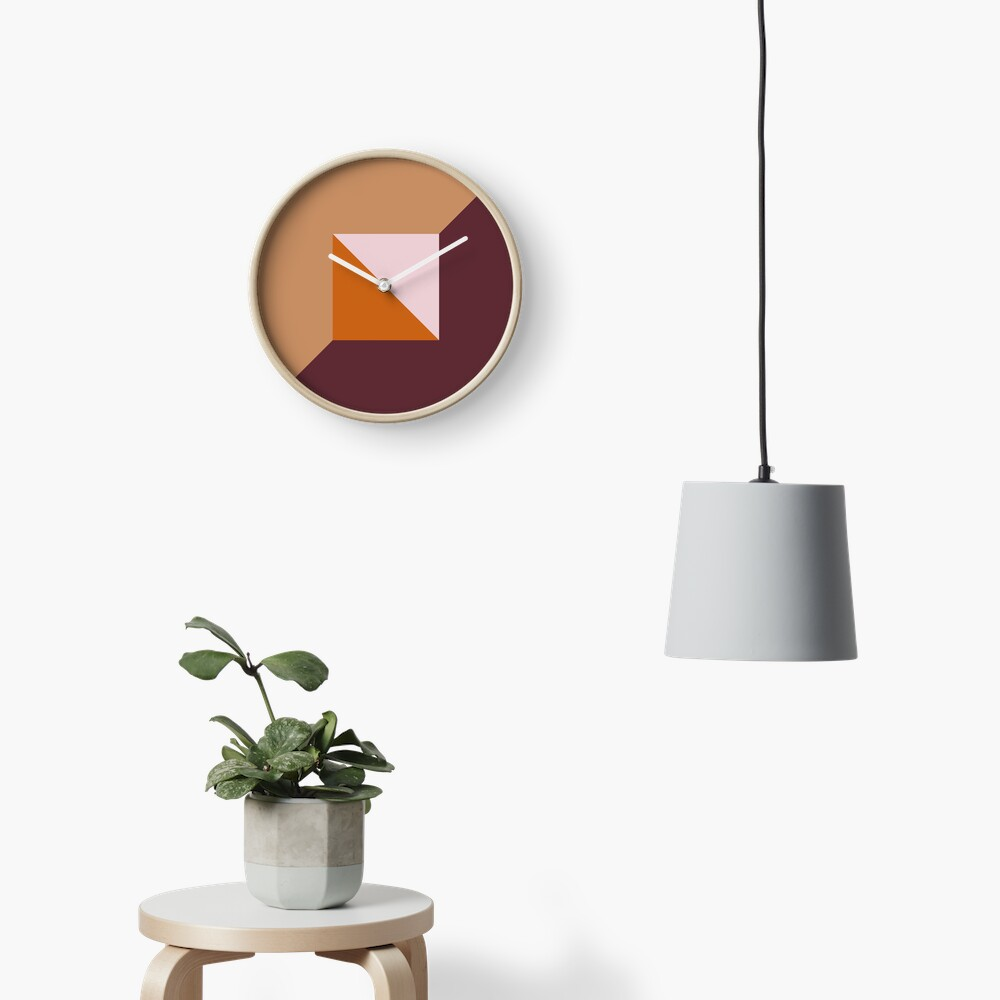 Fashionable Fall Autumn Trending Muted Color Palette Clock