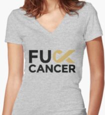 Fuck Cancer Campaign Women's Fitted V-Neck T-Shirt