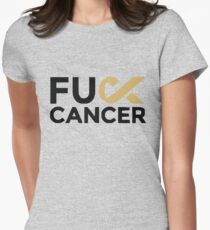 Fuck Cancer Campaign Women's Fitted T-Shirt