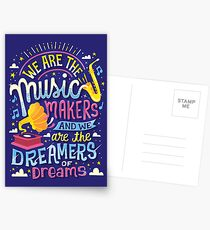 Music Makers and Dreamers Postcards