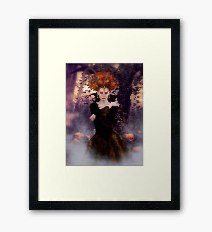 Pumpkin Witch Framed Print
