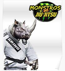 Monstros do Jiu Jitsu Rinoceronte Poster