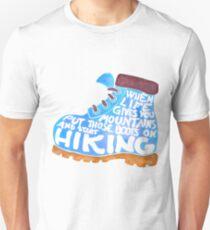 Hiking Boot - Blue T-Shirt