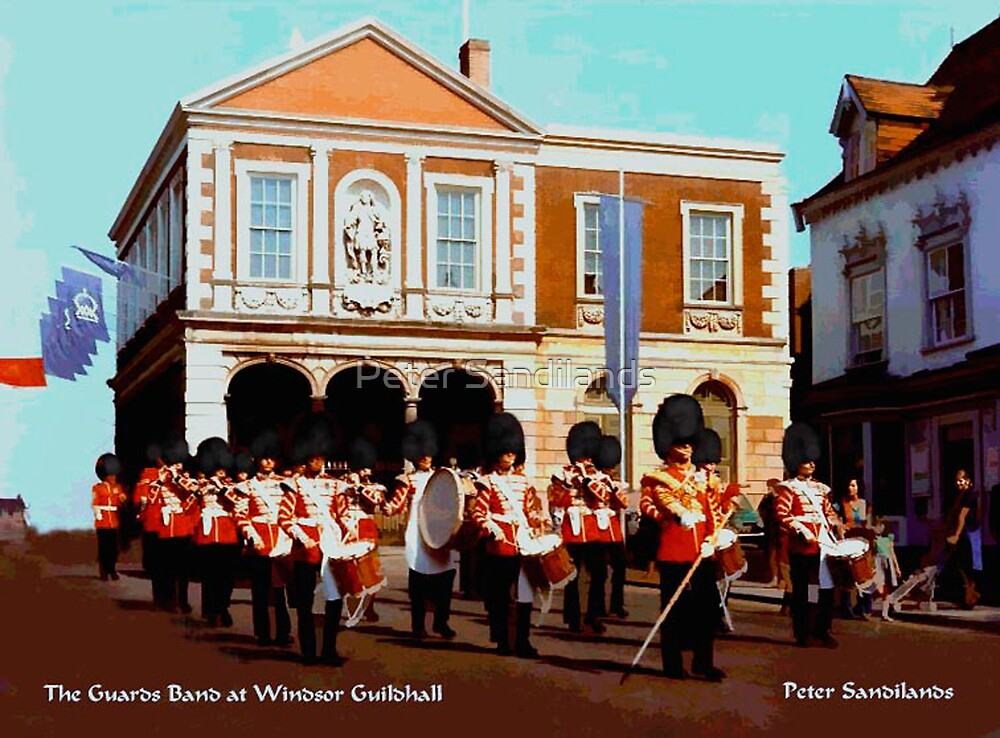 The Guards Band at Windsor Guildhall by Peter Sandilands