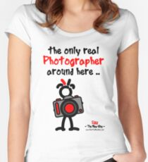 Red - The New Guy - The only real Photographer around here .. Women's Fitted Scoop T-Shirt