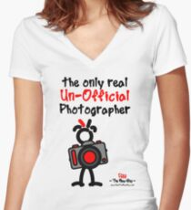 Red - The New Guy - The only real Un-Official Photographer Women's Fitted V-Neck T-Shirt