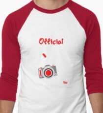 Red - The New Guy - The only real Official Photographer Men's Baseball ¾ T-Shirt