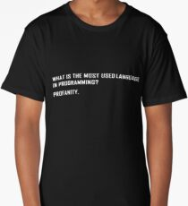 What is the most used language in programming? Long T-Shirt
