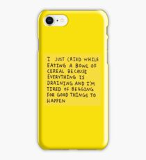 Eating A Bowl Of Cereal iPhone Case/Skin