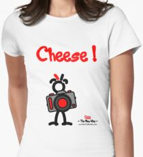 Red - The New Guy - Cheese ! Womens Fitted T-Shirt