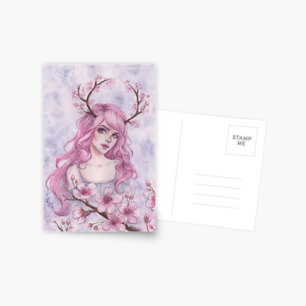 Kirschblüten-Geweihe Postkarte