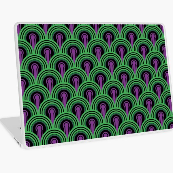 Overlook Hotel Carpet from The Shining: Purple/Green Laptop Skin