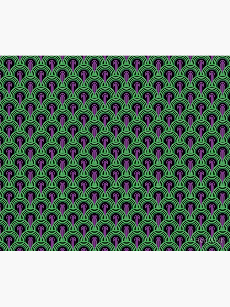 Overlook Hotel Carpet from The Shining: Purple/Green by redwolfoz