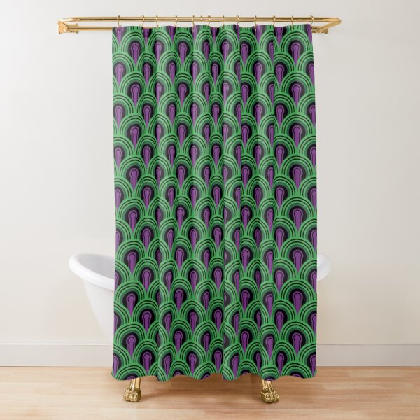 Overlook Hotel Carpet from The Shining: Purple/Green Shower Curtain