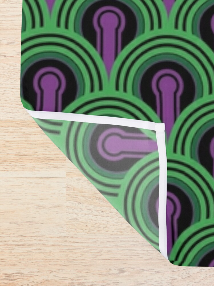 Alternate view of Overlook Hotel Carpet from The Shining: Purple/Green Shower Curtain