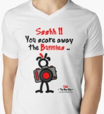 Red - The New Guy - Ssshh!! You scare away the Bunnies .. Men's V-Neck T-Shirt