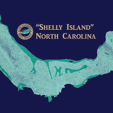 Shelly Island North Carolina map by LaunchMission