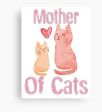 Mother of Cats 2 Canvas Print