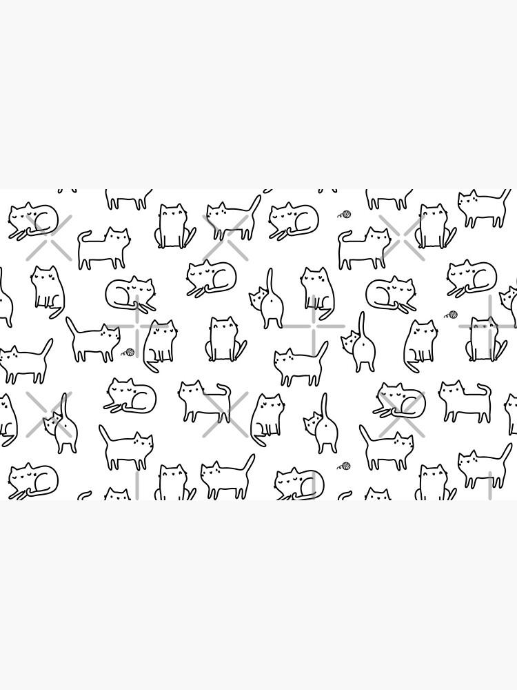 Funny white cats. Cute kitten and kitties. Cat pattern by kostolom3000