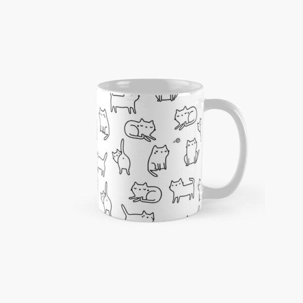 Funny white cats. Classic Mug