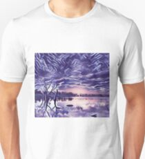 Cloudy Morning Sunrise on the Lake T-Shirt