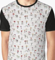 Tiny people with umbrellas Graphic T-Shirt