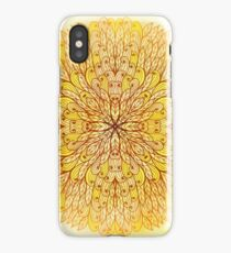 Hand drawn ethnic circular beige ornament iPhone Case/Skin