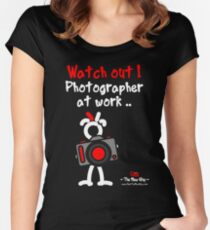 Red - The New Guy - Watch out ! Photographer at work .. Women's Fitted Scoop T-Shirt