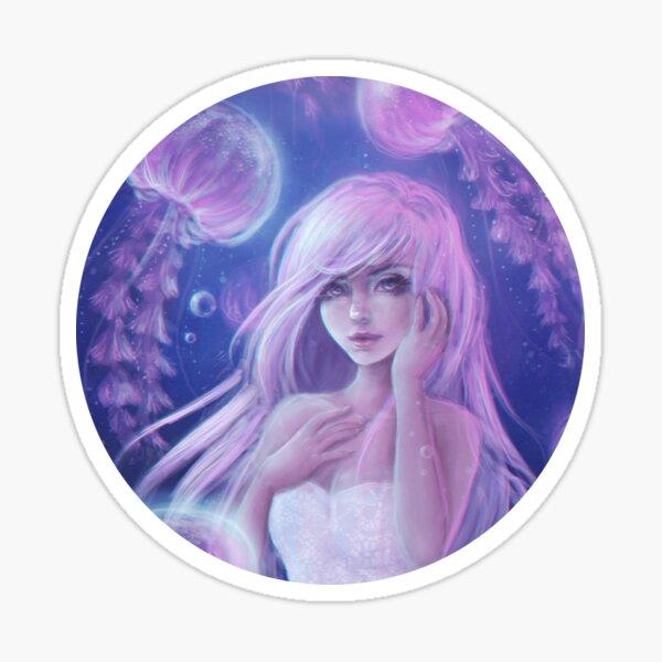 Jellyfish Princess Sticker