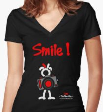 Red - The New Guy - Smile ! Women's Fitted V-Neck T-Shirt