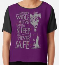Thrones wolf t-shirt best quote Chiffon Top